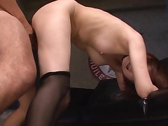 Oriental hottie mounts large 10-Pounder and bonks until that chick squirts